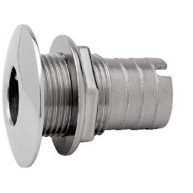 """THRU HULL FITTING 3//4/"""" HOSE CHROME PLATED POLYPROPYLENE 232 TH7590CPDP TH BOATS"""