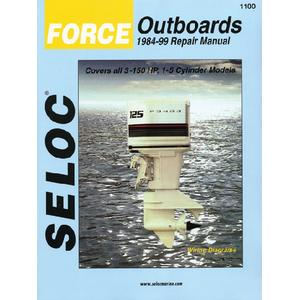 Seloc Publications 1100 SELOC MARINE TUNE-UP MANUALS / MAN FORCE 84-99 3-150HP 1-5CYL