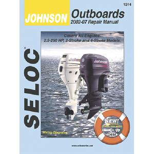 Seloc Publications 1314 SELOC MARINE TUNE-UP MANUALS / MAN JN 02-07 3.5-250HP ALL O/B