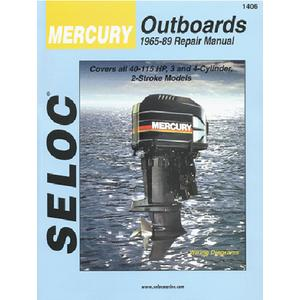 Seloc Publications 1404 SELOC MARINE TUNE-UP MANUALS / MAN MERC 65-89 2-40HP 1-2CYL
