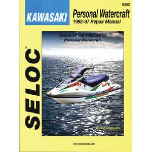 Seloc Publications 9202 SELOC MARINE TUNE-UP MANUALS / MAN KAWASAKI PWC 92-97