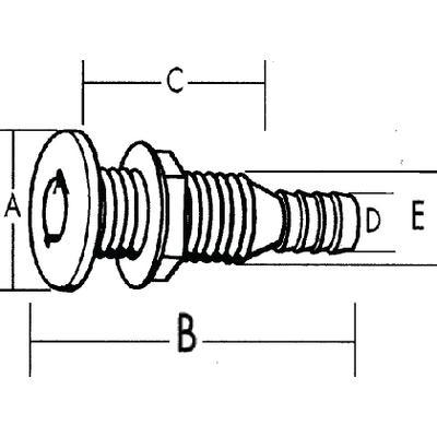 THRU HULL 1-1//2IN LONG T-H Marine TH1502XLDP