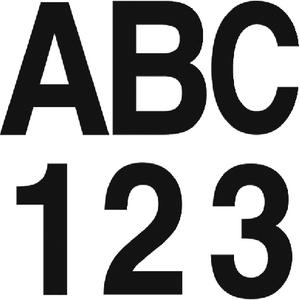 Hardline Products 17304 INDIVIDUAL GOTHIC FONT 3 BOAT LETTERS NUMBERS LTR 3IN SUPER