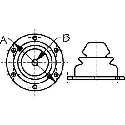 BOOT MOTOR WELL 3IN W// RING Sea-Dog 354-521630