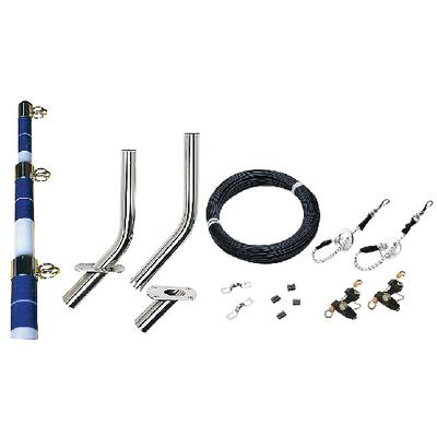 TACO Premium Center Single Outrigger Rigging Kit for up to 25ft Pole RK-0001PCB