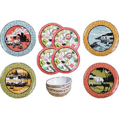 Camp Casual CC001 12 Piece Dish Set