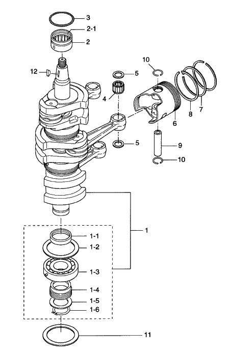 2 Piston Crank Shaft Reliable Source Of Nissan Tohatsu Boat