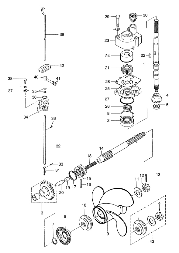 johnson outboard water pump replacement instructions