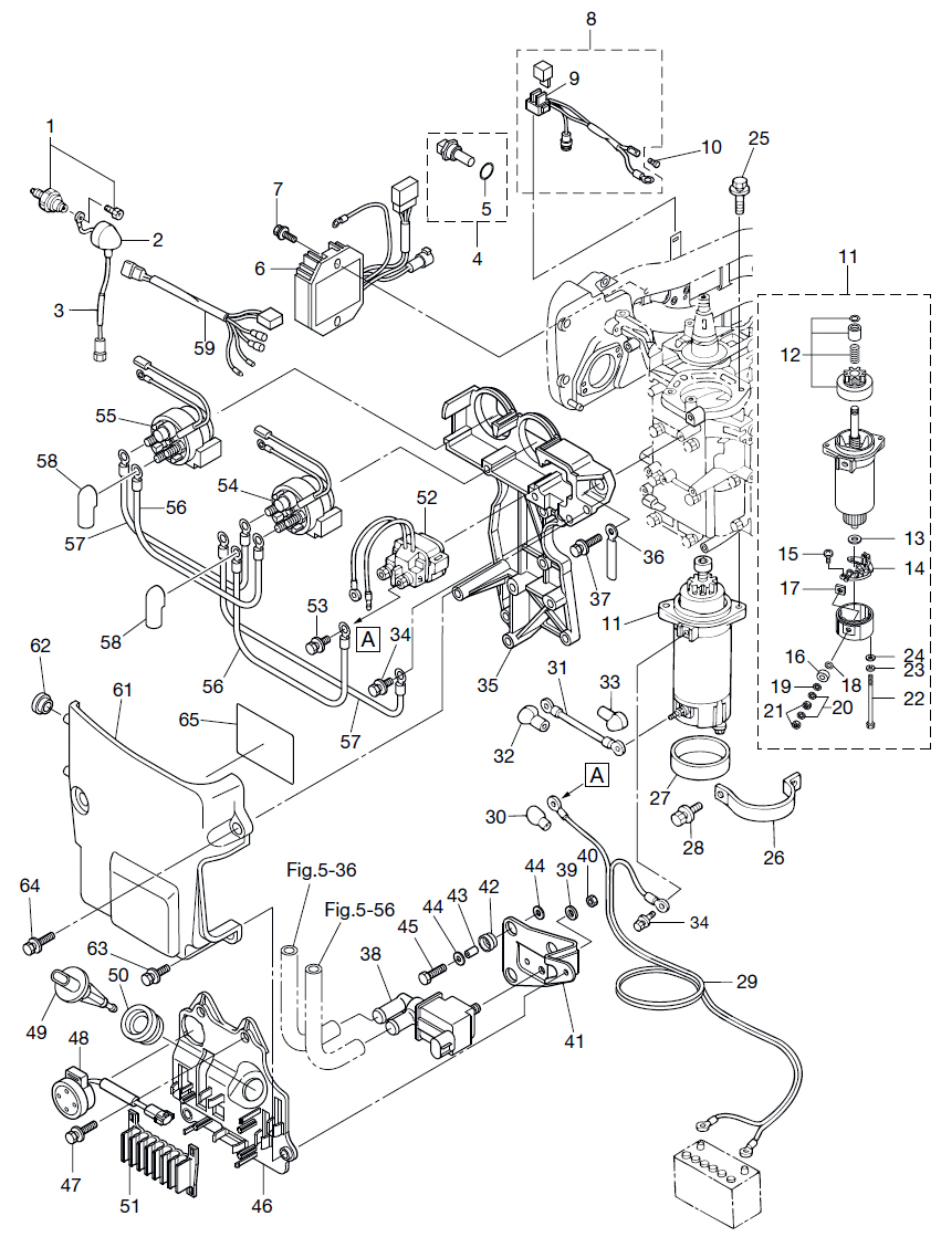 9 Electric Parts Reliable Source Of Nissan Tohatsu Boat Marine Exhaust System Diagram