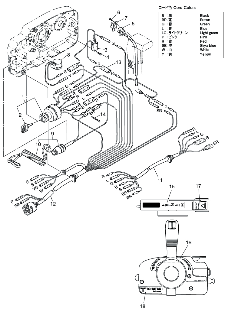 22 Component Parts Of Remote Control Assy Electrical Parts