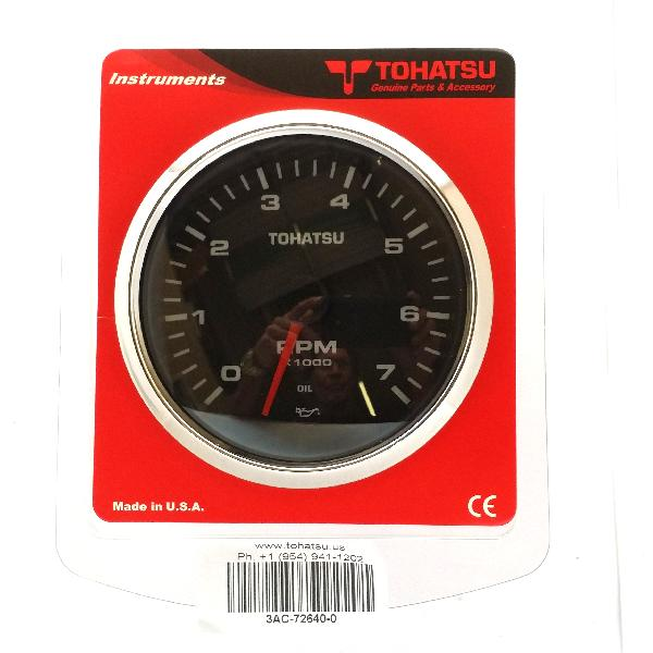 3AC726400M Tachometer - 2/4STR - Black (FTC8138)