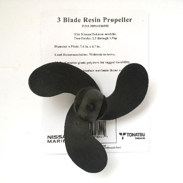 309641060M Prop 3 Blade Resin (7.4 Dia. X 5.7 Pitch)